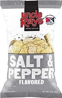 Uncle Ray's Salt & Pepper Potato Chips - 3 oz. Bag - 12 Pack