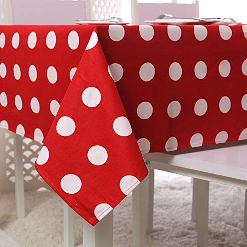 WSJIABIN Home Decoration Modern Simple Cotton Thick Canvas Polka Dot Tablecloth Coffee Table Table Cloth Table Cloth