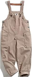 Mens Multi-Pockets Jumpsuit Romper Skinny Loose Fit Bib Overall