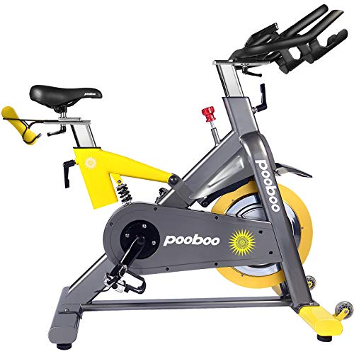 L Now Indoor Cycling Bike Exercise Bike Magnetic Resistance Stationary Bike Commercial Standard (yellow-gray)