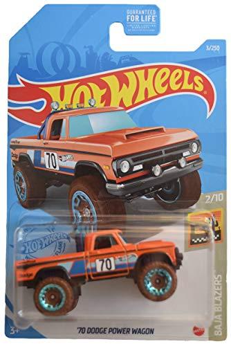 DieCast Hotwheels '70 Dodge Power Wagon, Baja Blazers 2/10 [Orange] 3/250