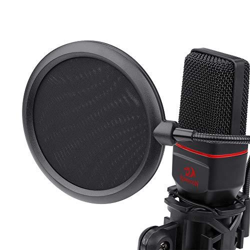 Microfone Gamer Profissional Redragon Seyfert Conector Padrão P2 Com Tripé e Pop Filter - GM100