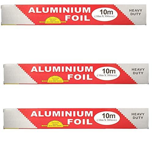 Hanwu Aluminum Foil Roll | Aluminum Tin Foil Sheets | Aluminum Foil Non Stick Foil Sheets for Food | Silver Foil Wrap | Paper Foil | for Food Storage and BBQ,30 meters