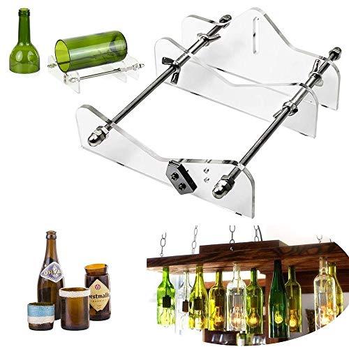 Glasschneider für Flaschen, Dyna-Living 4 in 1 Flaschenschneider Kit für Wein-, Bier-, Champagner- und Whiskyflaschen, DIY Glasflaschenschneider mit Zubehör Tool Kit für Home Bar Dekoration