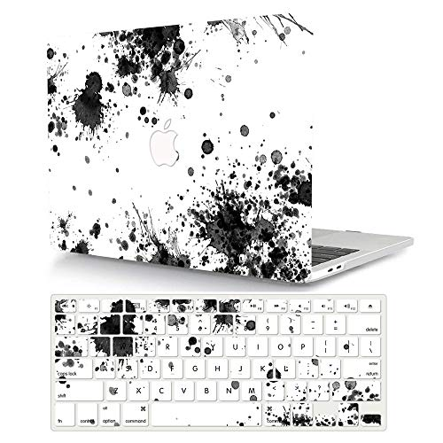 AJYX MacBook Pro 13 Inch Case 2015 2014 2013 2012 Release A1502 A1425, Hard Shell Cover with Keyboard Cover for Old Version Mac Pro 13 with Retina Display - Ink painting