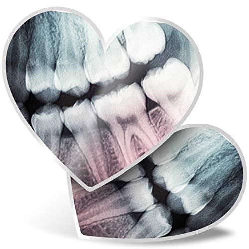Impresionante 2 pegatinas de corazón de 7,5 cm – Dientes Dentales Dentales Dentales Divertidos calcomanías Divertidas Dentistas Dentales Dentales Dentales Dentales Divertidos Calcomanías Dentales Divertidas Divertidas para Ordenadores Portátiles, Tabletas, Equipaje, Libros de Des