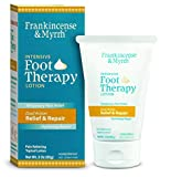 Frankincense & Myrrh Foot Pain Lotion - Intensive Foot Therapy - Dual Action Pain Relief and Hydrating Skin Repair with Essential Oils, 3 Oz - 1 Pack