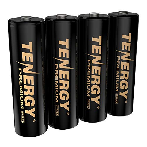 Tenergy Premium PRO Rechargeable AA Batteries, High Capacity 2800mAh NiMH AA Battery, 4 Pack Rechargeable Batteries…