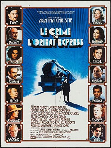 Film Le Crime DE L'ORIENT Express Rdbu-Poster/Reproduction 90x120cm* d1 AFFICHECINéMA