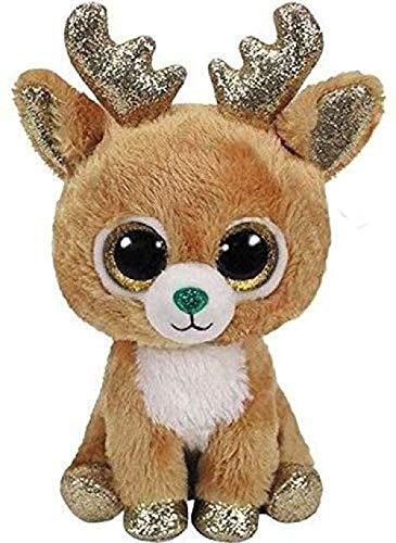 INGFBDS Ty Beanie Boos Simpatici giocattoli di peluche e peluche farciti bambola di scimmia gufo 6 Renna da 15 cm