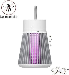 Lámpara Mosquitos Electrico Camping Antimosquitos Lámpara Interior y Exterior Mosquitos Killer Portátil,UV Luz Lampara para Segura y Eficaz Repelente Mosquitos