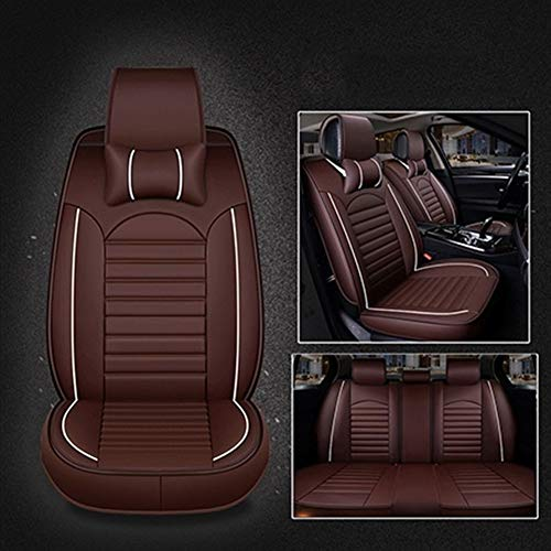Ajuste personalizado Transpirable PU Asientos de Piel de coches fundas de asiento de auto Protectores del amortiguador del sistema completo (Air Bag Compatible) universal for Audi A6 4F A3 A4 A5 Q5 Q3
