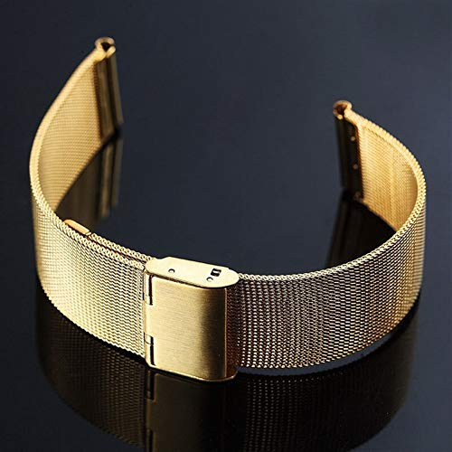 ZXF Correa Reloj Universal Correa 8-24mm 20mm de Plata de Acero Inoxidable Reloj de la Correa de la Pulsera de reemplazo 22mm Banda de Reloj Pulsera (Color : Rose Gold, Size : 8mm)