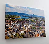 DesFoli Bonn Deutschland Skyline Stadt Leinwand Canvas-Bild