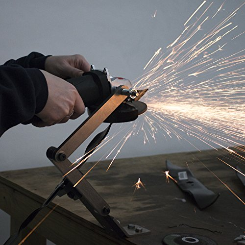 All American Sharpener Model 5000 Lawn Mower Blade Sharpener for Mulching and Standard Lawn Mower Blades