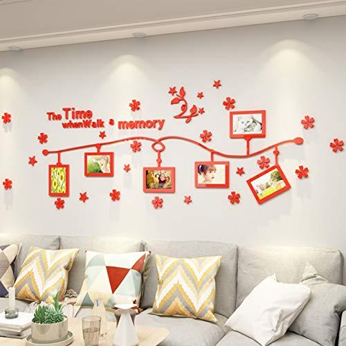 Photo Frame WM Acryl-Foto-Wandaufkleber, 3D-Wandaufkleber, Wohnzimmer-Wanddekoration, Schlafzimmer-Hintergrund, Fototapete 1,27 (Farbe: 2, Größe: 1800 mm x 585 mm)