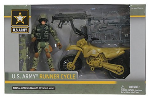 Excite U.S. Army Runner Cycle Soldier Action Figure Playset