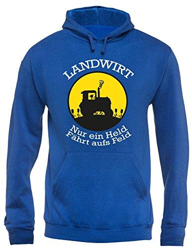 Angry Shirts Landwirt - Nur EIN Held fährt aufs Feld - Herren Hoodie