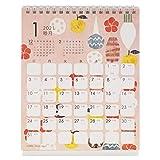 クローズピン 2021年 カレンダー 卓上 Tomoko Hayashi 旬菜 おせち CL95553