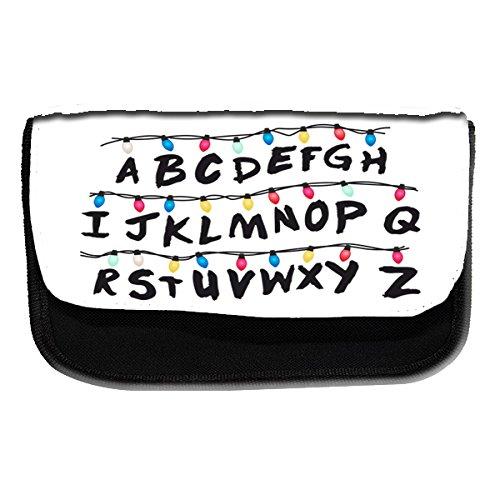 Astuccio con alfabeto, design Stranger Things – Astuccio per la scuola o per il trucco