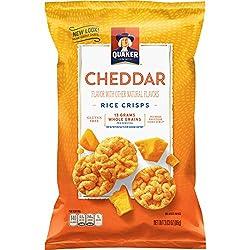 Quaker Popped Rice Snacks, Cheddar Cheese, 3.03 Oz