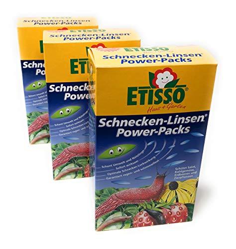 Etisso Schneckenkorn ⎜Schnecken-Linsen 2,4 Kg Power-Packs (3 x 800g) ⎜+Bodenanalyse-Gutschein