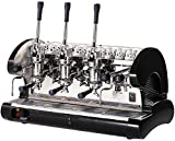 La Pavoni Bar 3L-B Lever Espresso Coffee Machine with Chromed Brass Groups, Golden Black, 22.5 Liter Boiler, Manual Boiler Water Charge Button, Anti-vacuum Valve, Boiler Pressure Control with Manometer