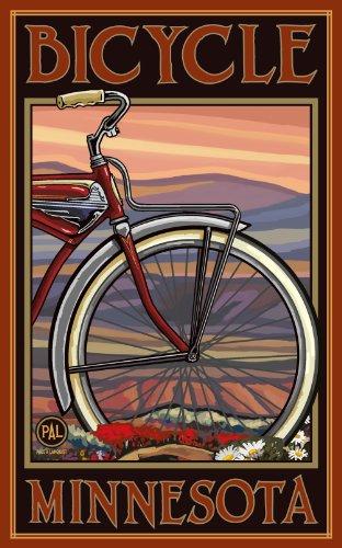 Northwest Art Mall Minnesota Old Half Bike Artwork von Paul A. Lanquist, 28 x 43 cm