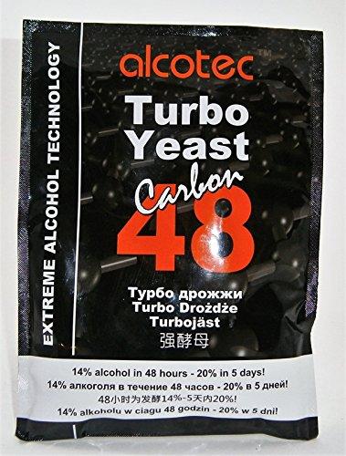 Alcotec Turbohefe 48 + Aktivkohle – Turbo Hefe | Wodkahefe | Destillieren