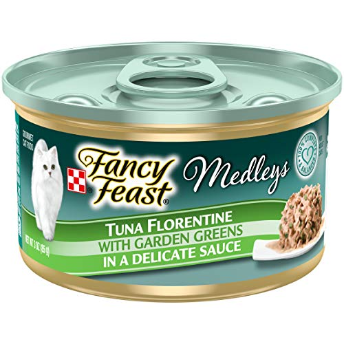 Purina Fancy Feast Wet Cat Food, Medleys Tuna Florentine With Garden Greens in a Delicate Sauce - (24) 3 oz. Cans