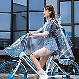 Poncho Antipioggia trasparente Con design a strisce riflettenti Poncho Impermeabile Antivento Cappuccio Raincoat Mantello Outdoor Equitazione Auto Elettrica Bicicletta Rainwear Pioggia Cape Cappotto