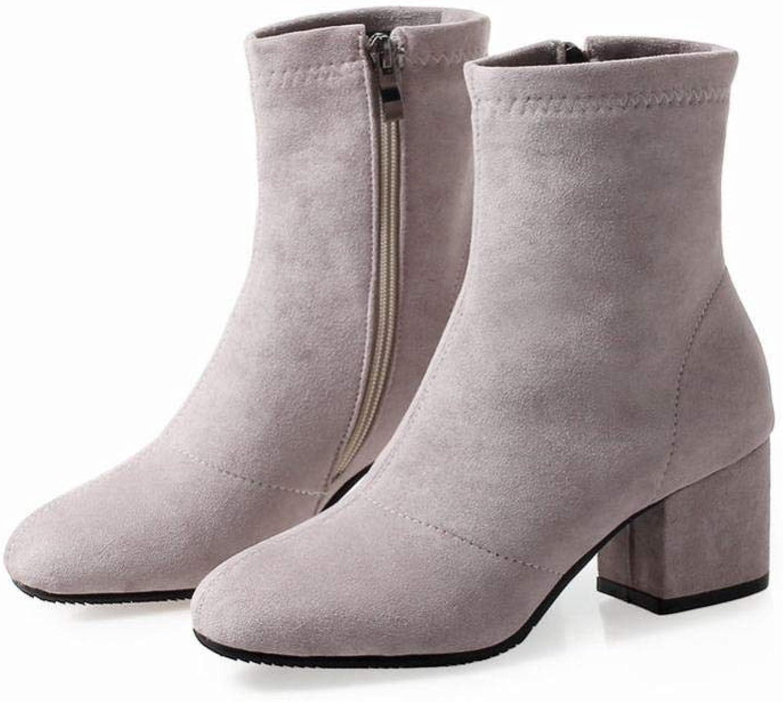 SED Herbst Und Winter Dick Mit Mit Mittleren Stiefel Weiblichen Spitzen Stiefel Frauen High Heel 5.5Cm Martin Stiefel 36-43 Meter Damen Stiefel  Fabrikverkauf