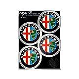 Alfa Romeo 4R Quattroerre.it 21815 Pegatinas Oficiales 4 Logos Años 80 Desde 48 mm, Tabla 94 x 131 mm, Multicolor