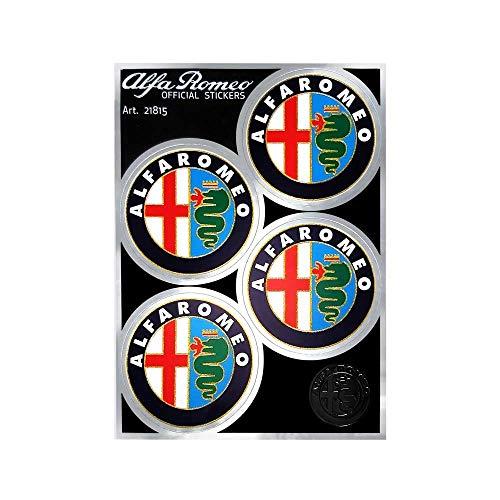 Alfa Romeo 21815 Adesivi Ufficiali 4 Loghi Anni 80 da 48 mm
