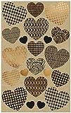 AVERY Zweckform Kraftpapier Aufkleber 42 Sticker Herzen (Papier Sticker, Geschenkaufkleber, natur, braun, beige) 57123 4004182571231