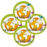 Happy Earth Day - Juego de 6 manteles individuales redondos resistentes al calor, lavables y resistentes a las manchas, de poliéster antideslizante para decoración de cocina y comedor