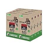 San Marco - Capsules de Café Bio N°8 - Intense, Rond et Aromatique - 100% Arabica - Capsules Compostables, Sans Aluminium - 8 x 10 Capsules Compatibles Machine Nespresso®*