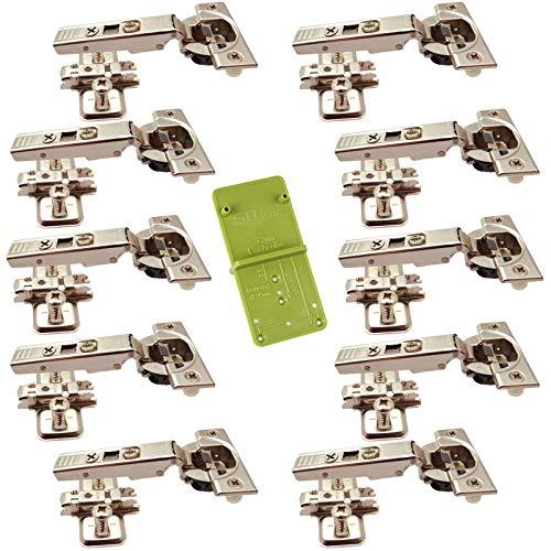 10 x Blum Blumotion Topfband CLIP Top 71B3580 Eckanschlag 110° Automatikscharnier mit Cliptechnik, Schließautomatik und Dämpfer inkl. Ankörnschablone EasyGreen