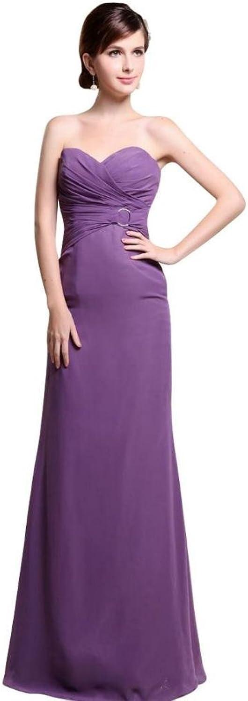 Dearta Women's Sheath Sweetheart Sleeveless FloorLength Prom Dresses