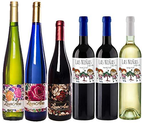 Bodegas Cañaveras by LaurAna Ecológico - Lote de 6 botellas Vino de la Tierra de Castilla Orgánico - Pack 6 x 750 ml