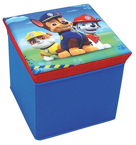 Fun House 712538 Pat'Patrouille Tabouret de Rangement Polyester Bleu 31 x 31 x 29 cm