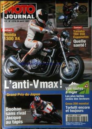 MOTO JOURNAL [No 1276] du 24/04/1997 - HONDA 1300 X4 - YAMAHA TRX 850 EXPOMOTOS - L