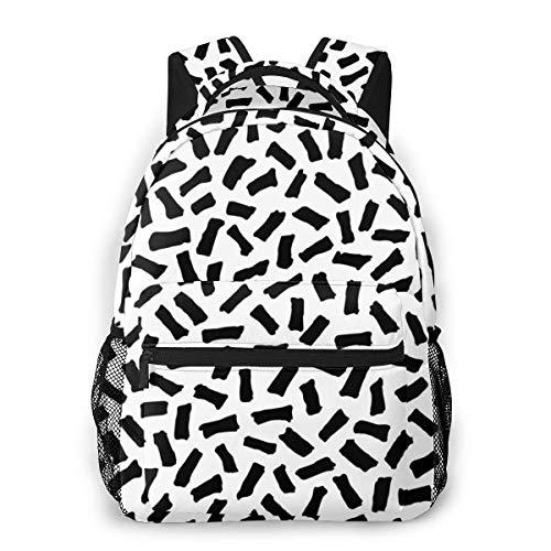 RN onregelmatige stokken patroon klassieke lichte rugzak voor mannen en vrouwen, college tas voor mannen en vrouwen, reistas voor reizen, hogeschool, school, vrije tijd rugzak