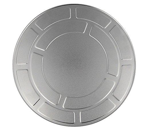 Filmdose 27 cm aus Aluminium, Kosmetex Alu Filmrollen-Dose im Hollywood Style, 27 cm