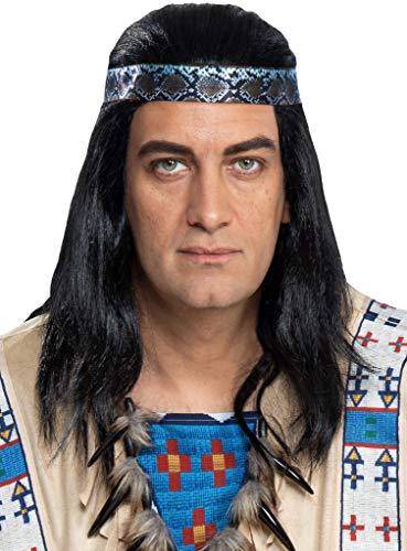 Maskworld Winnetou Perücke - Indianer Western - Lizenz-Kostüme aus den Karl-May-Filmen für Karneval und Motto-Party