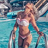 Bikini de trajes de baño de mujer BANDEA empuje hacia arriba la mujer traje de baño brasileño bikini conjunto de baño de impresión traje de camiseta sin mangas bikinis las mujeres mujer biquini