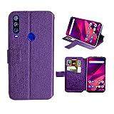 Lucky State USA Case for BLU VIVO XII, BLU VIVO XII Phone Case,[Kickstand] [Card Slot+Inner TPU] Flexible Wallet Flip Protective Case (Purple)