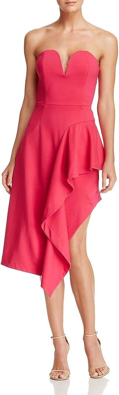 Elliatt Womens Impact Strapless Ruffled Cocktail Dress