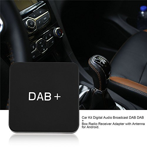 Car DAB/DAB + Box Radio Receiver Adapter, USB Port Digital Stereo Audio Broadcast Car Kit with Antenna Compatible with Android