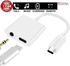 USB C/Type C to 3.5mm Aux Audio Headphone Charger and Music Jack Adapter Pixel 2/2XL/3/3XL Esential and so on Type c Products